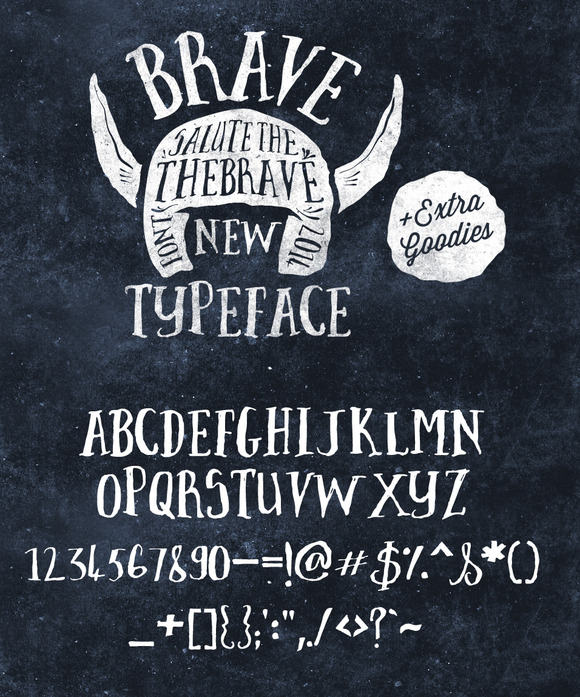 Brave New Font Pack Graphic Extras