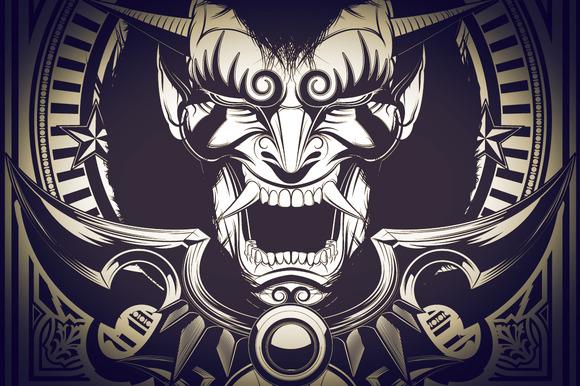 Steampunk Oni Illustration
