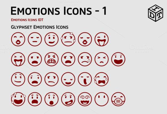 Emotions Icons Web Font