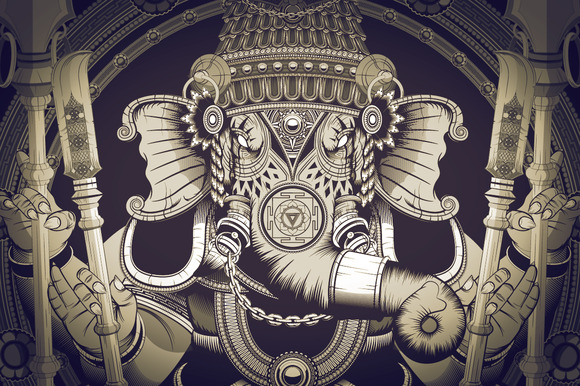 Stunning Ganesha Illustration