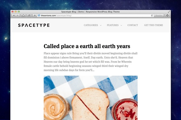 Spacetype Blog Wordpress Theme