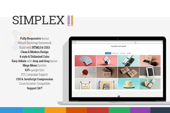 Simplex Responsive Joomla Template