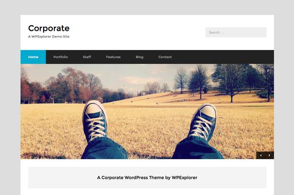 Corporate Minimal WordPress Theme