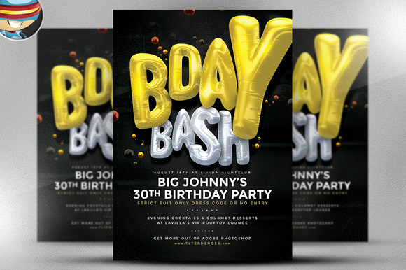 BDay Bash Flyer Template 3