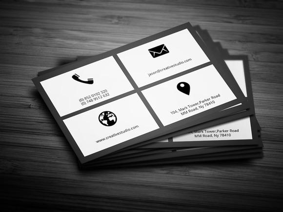 Flat Metro Business Card