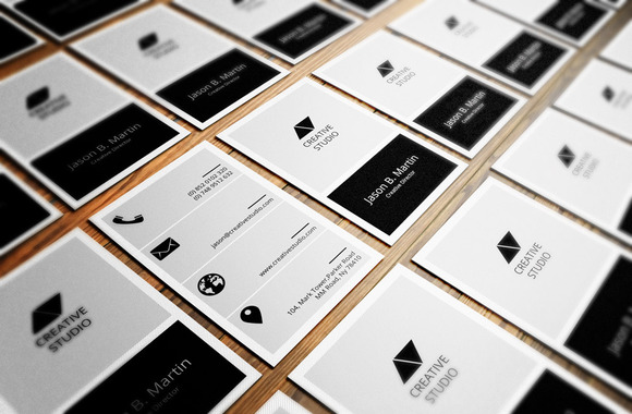 Flat Metro Corporate Business Card