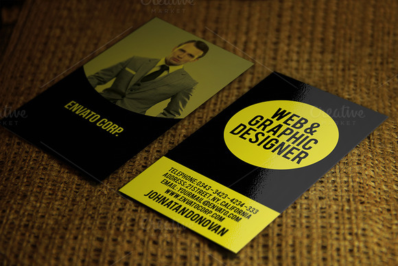 Black Yellow Business Card