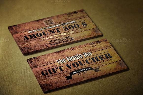 Wooden Style Gift Voucher