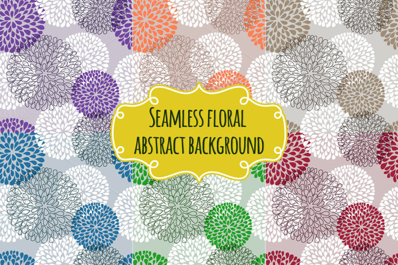 Seamless Floral Abstract Background