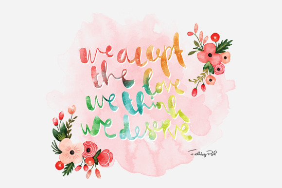 Vintage Watercolor Quote