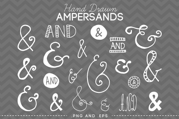 Hand Drawn Ampersand Clip Art Vector