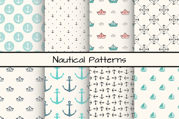 Set Of 8 Nautical Patterns Part 2
