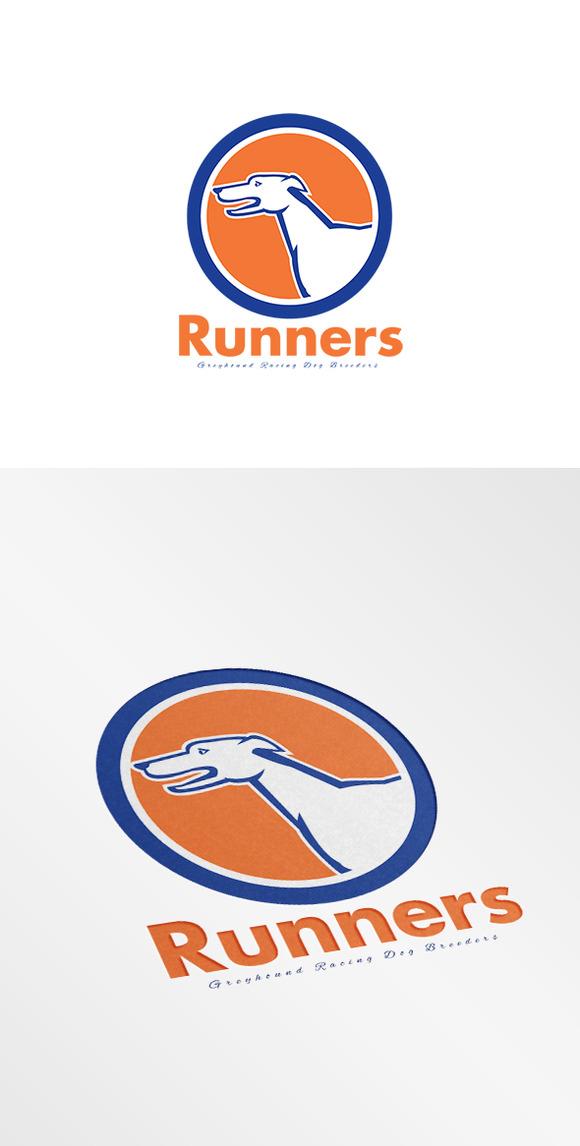 Runners Greyhound Dog Breeders Logo