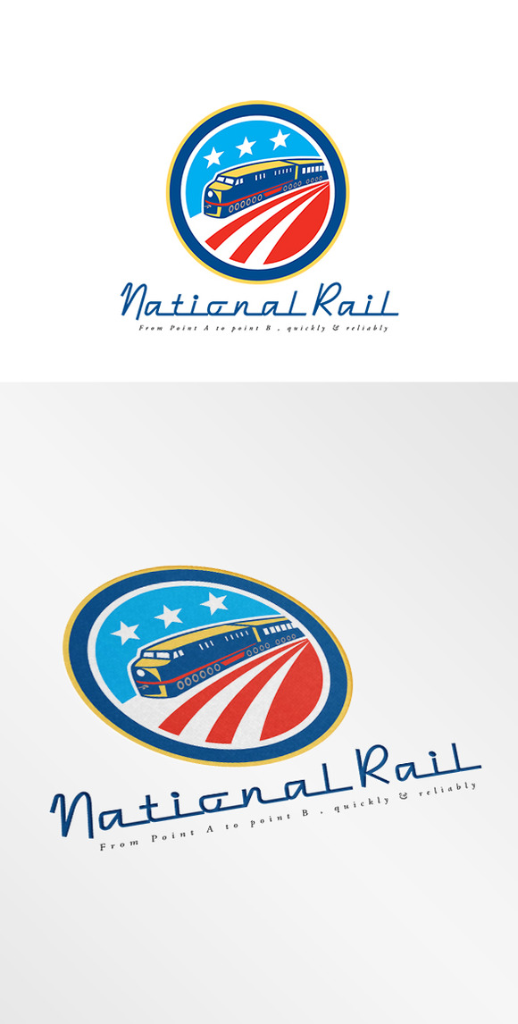 National American Rail Logo