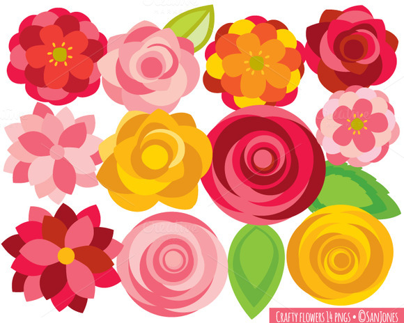 Flowers Clip Art Crafty Flowers