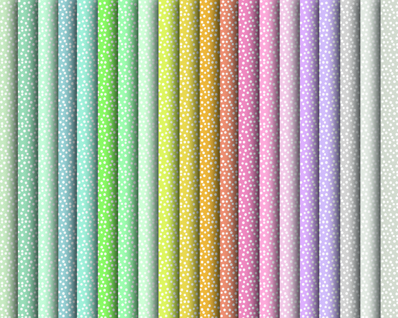 Digital Spring Polka Dot Papers