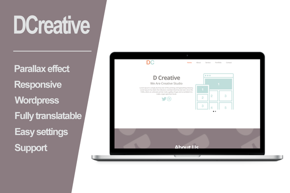 DCreative Wordpress Parallax Theme