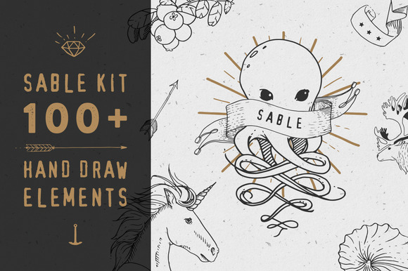 Sable Kit Hand Drawn Collection