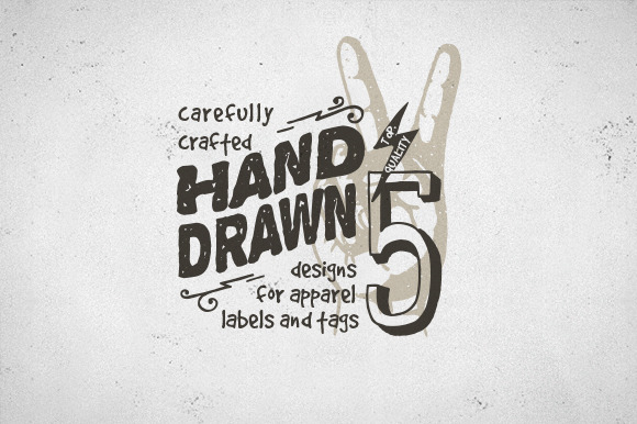 Hand Drawn Apparel Label Designs