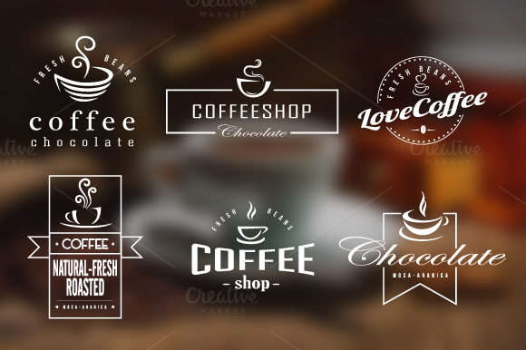 Coffee Retro Badges Labels Logos