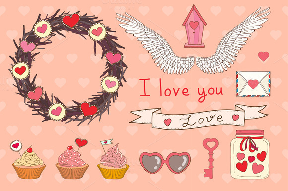 Vector Set Of Valentine S Day