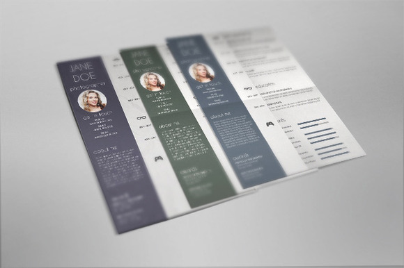Resume Set In 3 Color Variations