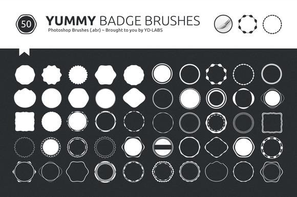 Yummy Badge Brushes