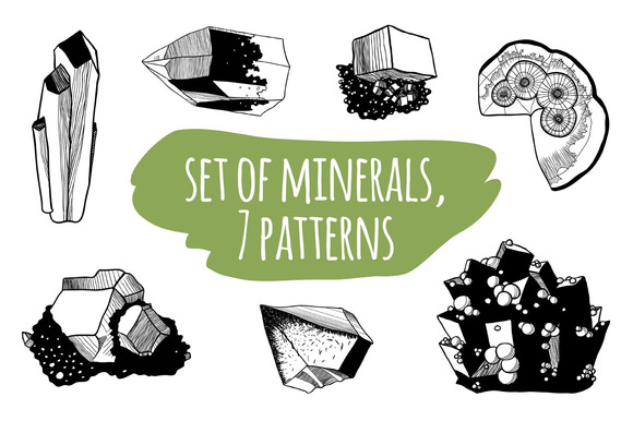 Set Of Minerals 7 Patterns