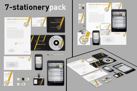 Stationery Pack Mock Up