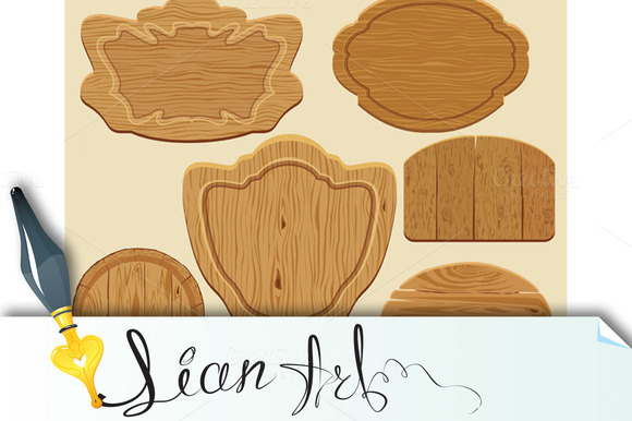 Dfferent Shapes Wooden Signboards