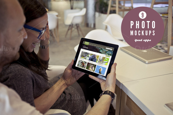 Couple Using IPad 9 Photo Mockups