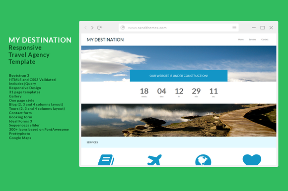 My Destination-Responsive Template