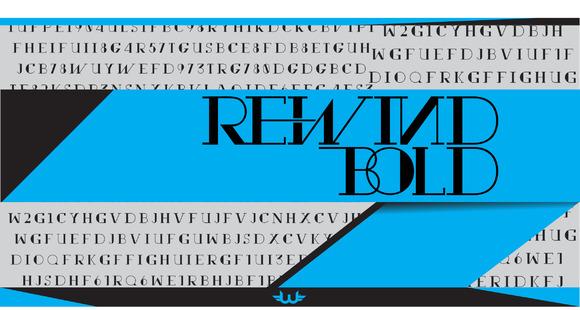 Rewind Bold Typeface
