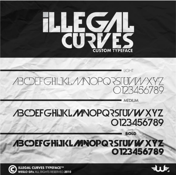 ILlegal Curves Typeface