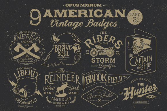 American Vintage Badges Part.3