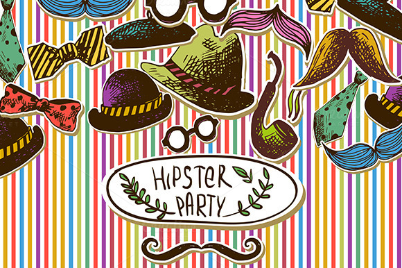 Hand Drawn Hipster Design Elements