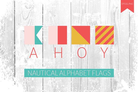 Nautical Alphabet Flags
