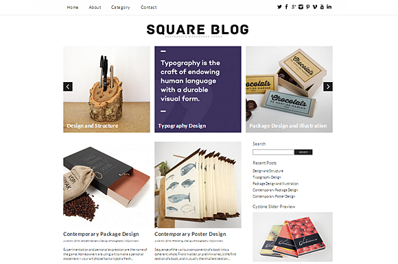 Square Blog Responsive Theme
