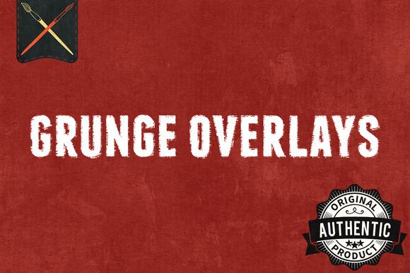 12 Grunge Overlays Textures