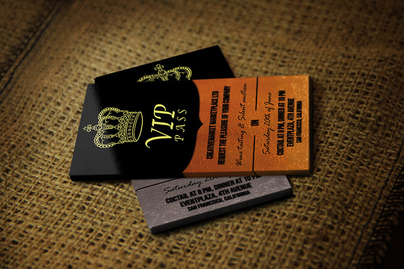 Business Vip Pass Card Gold Silver