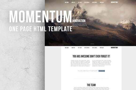 Momentum One Page Responsive HTML