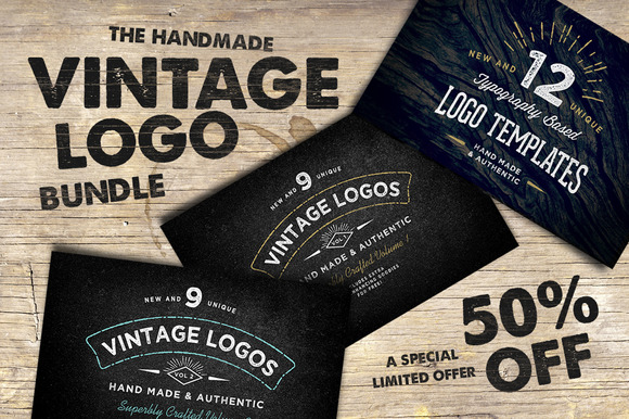 The Handmade Vintage Logo Bundle