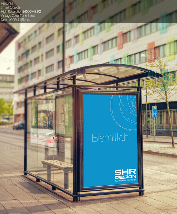 Bus Stand Mockup 3