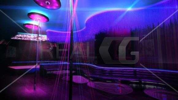 3D Render Of Night Club Interior