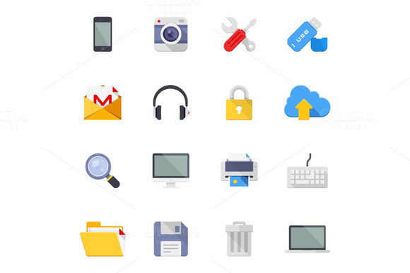 Technology And Media Icons