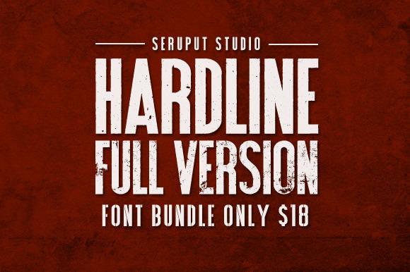Hardline Font Bundle