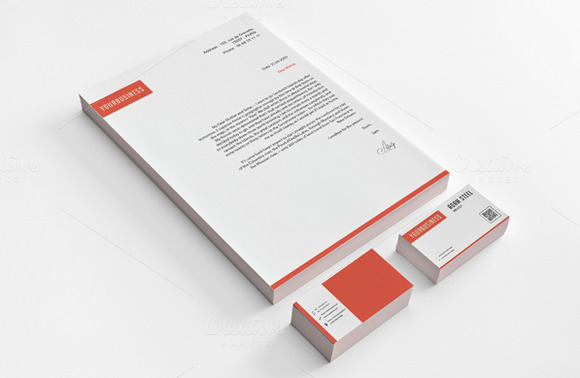 Simple Stationery Design Template
