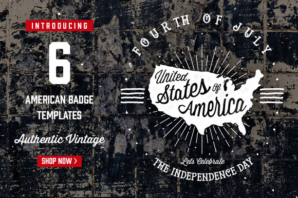 6 American Badge
