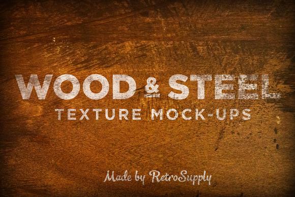 Wood Steel Logo Mock-Ups