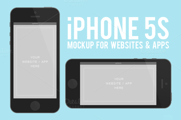 IPhone 5s Flat Mockup Device